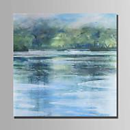 billiga Landskapsmålningar-Hang målad oljemålning HANDMÅLAD - Abstrakt Landskap Moderna Duk