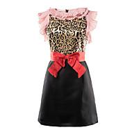 Mulheres Delgado Solto Vestido - Laço, Leopardo