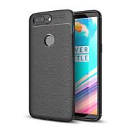 billiga Mobil cases & Skärmskydd-fodral Till OnePlus 5 / OnePlus 5T Stötsäker Skal Enfärgad Mjukt TPU för One Plus 5 / OnePlus 5T / One Plus 3T