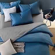 billige Solide dynetrekk-Sengesett Ensfarget 3 deler Polyester/Bomull Garn Bleket Polyester/Bomull 1stk Dynetrekk 1stk Trekk 1stk Flatt Laken