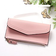 cheap Wallets-Women's Bags PU(Polyurethane) Wallet Buttons Animal Black / Blushing Pink / Gray