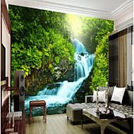 billige Tapet-Trær / Blader Art Deco 3D Hjem Dekor Klassisk Vintage Tapetsering, Lerret Materiale selvklebende nødvendig Veggmaleri, Tapet