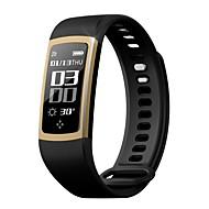 tanie Inteligentne zegarki-Krokomierze Czarny Spalone kalorie Krokomierze Kontrola APP Pomiar ciśnienia krwi Pulse Tracker Krokomierz Rejestrator aktywności