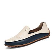 ieftine Pantofi Bărbați-Bărbați Pantofi Imitație de Piele Primăvară / Vară Confortabili Încălțăminte de Barcă Alb / Albastru