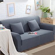 billige Overtrekk-Moderne 100% Polyester Mønstret Toseters sofatrekk, Enkel Ensfarget Garn Bleket slipcovere