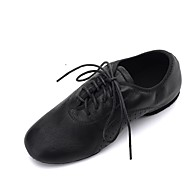 billige Jazz-sko-Dame Jazz-sko Nappa Lær Flate / Oxford Flat hæl Kan spesialtilpasses Dansesko Gull / Svart / Sølv
