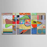 Hånd-malede Abstrakt Vertikal, Moderne Lærred Hang-Painted Oliemaleri Hjem Dekoration Tre Paneler