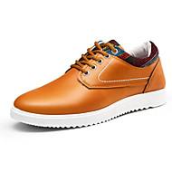 baratos Sapatos Masculinos-Homens Couro Ecológico Primavera / Outono Conforto Oxfords Preto / Laranja / Azul