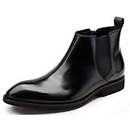 Χαμηλού Κόστους Αντρικές Μπότες-Ανδρικά Μπότες Μάχης Νάπα Leather / Δερμάτινο Φθινόπωρο / Χειμώνας Ανατομικό / Μπότες Μάχης Μπότες Μποτίνια Μαύρο / Κρασί