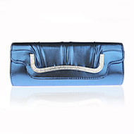 billige Designer Evening Bags-Dame Poser PU Aftenveske Krystalldetaljer / Drapert Lilla / kaffe / Vin