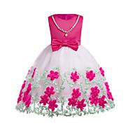 Djevojka je Pamuk Poliester Jednobojni Color block Dnevno Izlasci Proljeće Jesen Bez rukávů Haljina Jednostavan Slatko Bijela Fuksija