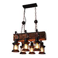 billiga Belysning-6-Light Industriell Hängande lampor Fluorescerande Trä Metall Ministil 110-120V / 220-240V Glödlampa inte inkluderad / FCC / E26 / E27