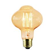 abordables -1pc 40W E26/E27 D80 K Ampoule incandescente Edison Vintage AC 220-240V V