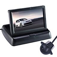 billiga Parkeringskamera för bil-ZIQIAO 4.3 inch CCD Bil baksidesats Vikbar Vattentät för Bilar
