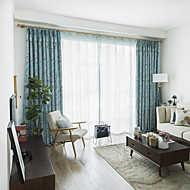 cheap Curtains & Drapes-Blackout Curtains Drapes Bedroom Floral Plants Polyester Blend Printed