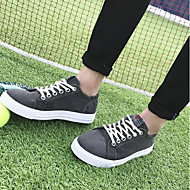 tanie Obuwie męskie-Męskie Buty Płótno Wiosna Jesień Comfort Tenisówki na Casual Dark Grey