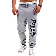 Muškarci Aktivan Pamuk Ravan kroj Aktivan Sportske hlače Chinos Hlače Slovo