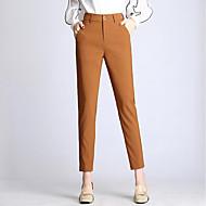 Dame Gade Harem Bukser Ensfarvet