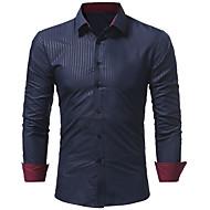 Tynd Herre - Ensfarvet Plusstørrelser Skjorte