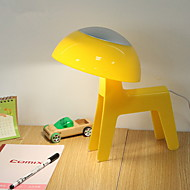 billige Lamper-Enkel Oppladbar Skrivebordslampe Til Plast DC 5 V Blå / Rosa / Gul