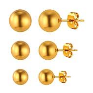 Mulheres Brincos Curtos - Chapeado Dourado Simples, Fashion Dourado / Prata Para Diário / Encontro