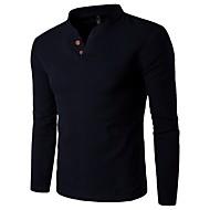 Pánské - Jednobarevné Čínské vzory Košile, Základní Podšívka Štíhlý Světle modrá XXXL / Dlouhý rukáv / Jaro / Léto