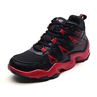 baratos Sapatos Masculinos-Homens Couro Ecológico Primavera / Outono Conforto Tênis Basquete Branco / Branco / Preto / Preto / Vermelho