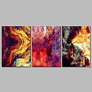 billiga Väggkonst-Stretchad Kanvastryck Samtida, Tre paneler Duk Horisontell Panoramautsikt Tryck väggdekor Hem-dekoration