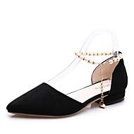 baratos Sapatos Femininos-Mulheres Cashmere Inverno Conforto Tamancos e Mules Ponta Redonda Penas Cinzento / Amarelo / Verde