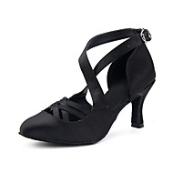 billige Moderne sko-Dame Moderne Kunstlær Høye hæler Fest Profesjonell Tvinning Kustomisert hæl Svart 3 - 3 3/4 Kan spesialtilpasses