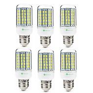 billige Kornpærer med LED-SENCART 6pcs 8W 420 lm E14 GU10 E26/E27 B22 LED-kornpærer T 96 leds SMD 5630 Dekorativ Varm hvit Kjølig hvit 200-240V 110-120V