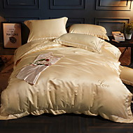 cheap Solid Duvet Covers-Duvet Cover Sets Solid 4 Piece Poly/Cotton 100% Cotton Reactive Print Poly/Cotton 100% Cotton 1pc Duvet Cover 2pcs Shams 1pc Flat Sheet
