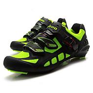Tiebao® Sko til landevejscykling Kulstoffiber Anti-glide, Påførelig, Åndbarhed Cykling Grøn / Sort Herre