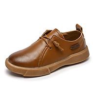 baratos Sapatos de Menino-Para Meninos Sapatos Pele Primavera Verão Conforto Tênis para Preto / Marron / Verde