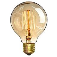 billige Glødelampe-1pc 40W E26/E27 G80 Varm hvit 2200-2700 K Kontor / Bedrift Mulighet for demping Dekorativ Glødende Vintage Edison lyspære 220V-240V