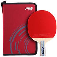 baratos Tenis de Mesa-DHS® E606 Ping Pang/Tabela raquetes de tênis Madeira Borracha 6 Estrelas Cabo Curto Espinhas