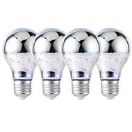 billige Globepærer med LED-YouOKLight 4stk 4W 320 lm E26/E27 LED-globepærer 25 leds SMD 2835 3D fyrverkeri Dekorativ Kjølig hvit RGB 85-265V