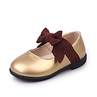 baratos Sapatos de Menina-Para Meninas Sapatos Couro / Couro Ecológico Primavera / Verão Conforto Rasos para Dourado / Preto / Rosa claro