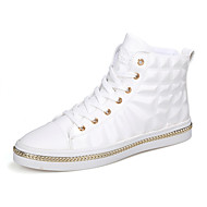 cheap Men's Sneakers-Men's Fashion Boots Faux Leather Spring / Summer Sneakers White / Black / Red