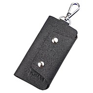 cheap Bags-Cowhide Key Holder Buttons for Casual Office & Career All Seasons Black