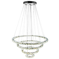 cheap Chandeliers-Traditional/Classic Modern/Contemporary Crystal Dimmable LED Dimmable With Remote Control Pendant Light Ambient Light For Living Room