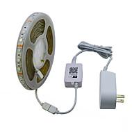 זול רצועות נורות LED-JIAWEN 5 M סרטי תאורה RGB 300 נוריות RGB ניתן לחיתוך עמיד במים בקרת APP נדבק לבד דקורטיבי 120-240V