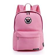 billige Skoletasker-Unisex Tasker Bomuld rygsæk Applikeret broderi / Lynlås for udendørs Lyserød / Hvid gul / Himmelblå