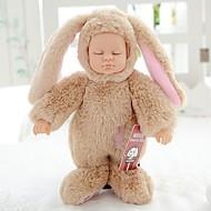 Reborn-dukker Babypiger 10 inch Fuld krops silicone / Silikone Børne Unisex Gave