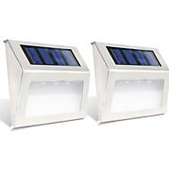 billige Utendørs Lampeskjermer-2pcs 0.3W Wall Light Solar Lysstyring Utendørsbelysning Varm hvit Kjølig hvit DC1.2V