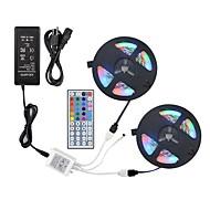 ZDM® 2x5M Verlichtingssets / RGB-verlichtingsstrips 600 LEDs 2835 SMD 1 44-toetsen afstandsbediening / 1 AC-kabel / 1 x 12V 3A-adapter RGB Knipbaar / Feest / Decoratief 100-240 V / 12 V 1 set
