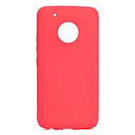 billiga Mobil cases & Skärmskydd-fodral Till Motorola G5 Plus / G5 Ultratunt Skal Enfärgad Mjukt TPU för Moto G5 Plus / Moto G5