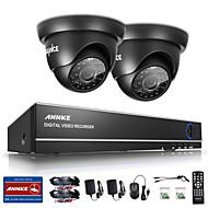 billige DVR-Sett-sannce® 4ch 720p dvr overvåkningssystem med 4hd 1280 * 720tvl utendørs sikkerhetskameraer