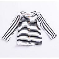 billige Sweaters og cardigans til babyer-Pige Daglig Stribet Trøje og cardigan, Bomuld Forår Langærmet Vintage Brun Sort Rød
