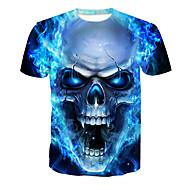 ieftine -Bărbați Tricou De Bază-Cranii Imprimeu